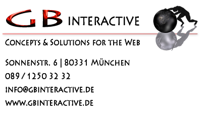 GBinteractive - Concepts & Solutions for the Web