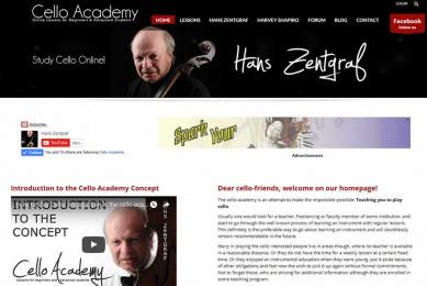 Neugestaltung eines Web-Auftritts für Online Cello Unterricht, speziell ausgerichtet auf USA.