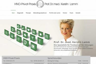 Neugestaltung des Internet-Auftritts einer privaten HNO-Praxis in München.