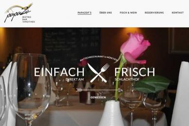 Relaunch des Internet-Auftritts eines der TOP-Fischrestaurants in München.