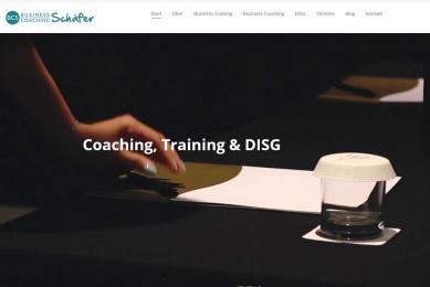 Gestaltung und Implementierung des Web-Auftritts eines Business Coaches.