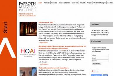 Relaunch der Web-Präsenz einer großen Münchener Anwaltskanzlei mit vertieften Analysemöglichkeiten.